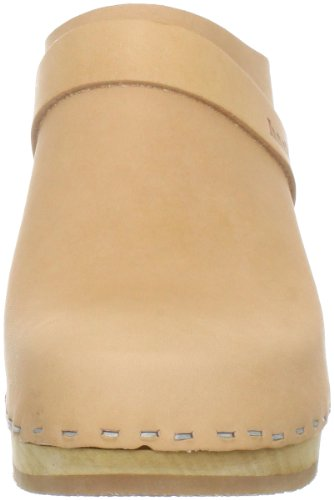 Swedish Hasbeens Slip in super high 431 - Sandalias de cuero para mujer Beige (Beige (Nature))