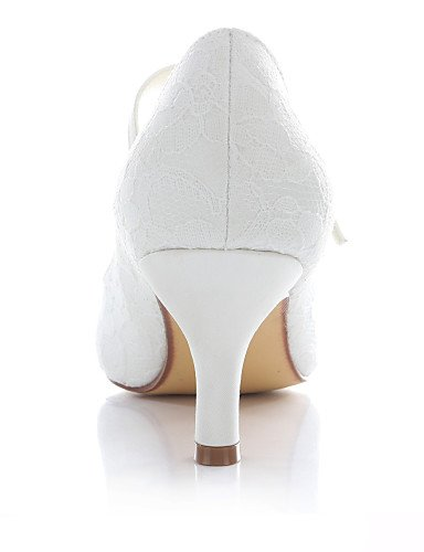 Mujer 2 4in Vestido Noche Tacones 3 ivory 2in GGX 4in de Marfil boda y Punta ivory Redonda Boda Zapatos 2in Fiesta 2 Tacones 3 qwO8BnZP