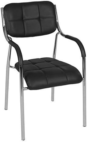 Regency Uptown Mid-Century Modern Dining Lobby Multipurpose Chair, 20 , Black