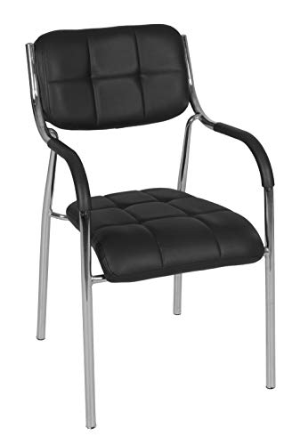Regency Uptown Mid-Century Modern Dining Lobby Multipurpose Chair, 20 , Black