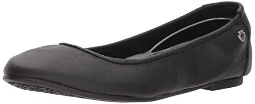 Minnetonka Casual Shoes Womens Anna Ballerina Leather 258 (10 B(M) US, Black)