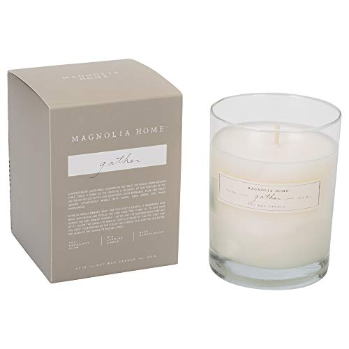 - Gather Scented 9.2 ounce Soy Wax Boxed Glass Candle by Joanna Gaines - Illume