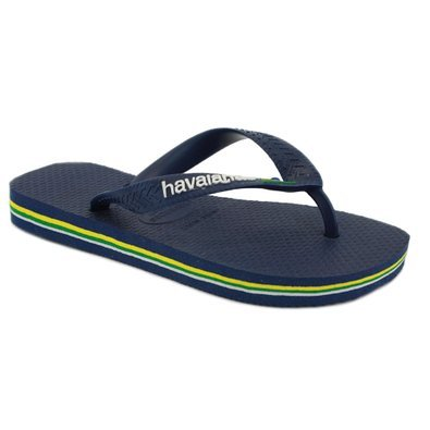 6bf8591addb80 Havaianas Brasil Logo Mens Synthetic Flip Flops Navy - 43 44 Brazilian   Amazon.co.uk  Shoes   Bags