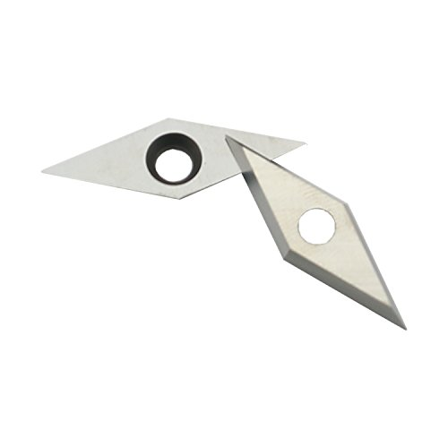 "DLtools Diamond Tungsten Carbide Insert with Sharp Point End (10mm(.39"") X28mm(1.10"")) Detailer Carbide Insert Replacement Cutters,Fit for Mid/Pro Size Wood Turning Hand Tools,Pack of 10 by DLtools (Image #3)"