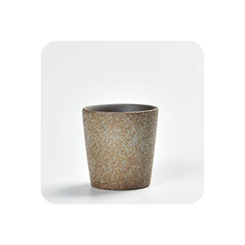 Coarse Pottery Tea Cup Japanese Style Teacup Black Cups Single Cup Creative Ceramic Masters Tea Cu,E