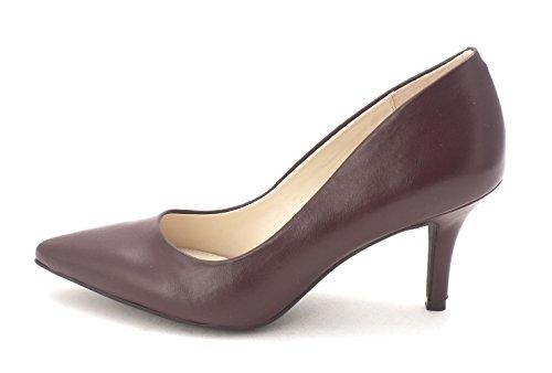 (Alfani Womens Jeules Leather Pointed Toe Classic Pumps, Burgundy, Size 7.0)