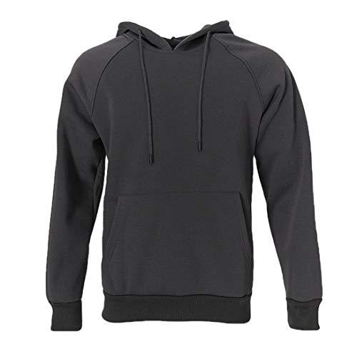 Classic Tall Stripe Cable - Boomboom Men Shirts, Autumn Warm Hip Pop Loose Fleece Hooded Hoodies Sweatshirts Blouse for Men Boy Dark Gray 2XL