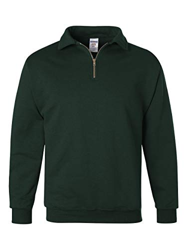 Jerzees mens 9.5 oz. 50/50 Super Sweats NuBlend Fleece Quarter-Zip Pullover(4528)-FOREST GREEN-XL from Jerzees