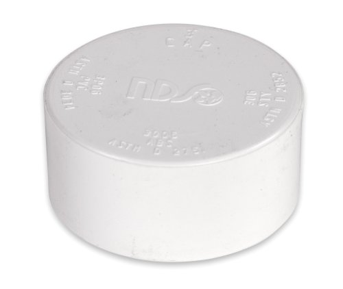 NDS 3P06 Sewer Drain Cap, 3-Inch, PVC (Drain Stormwater)