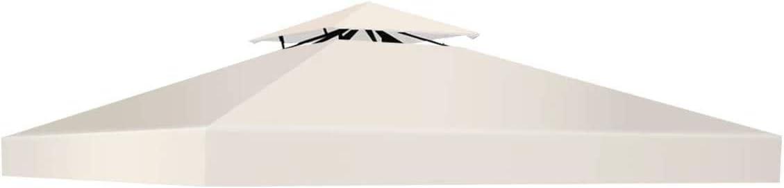 DREAMADE Tessuto di Ricambio per Gazebo Copertura Superiore per Gazebo Telo Tetto di Ricambio 3x3 M Beige