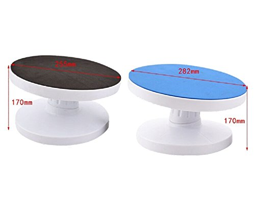 Hanzhiup Multi Purpose Adjustable Tilting Cake Turntable