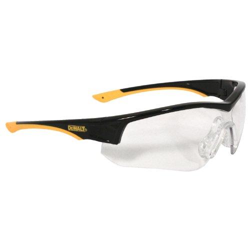 DEWALT DPG55-2C Dual Comfort Smoke Protective Safety Glasses Rubber Frame//Temple