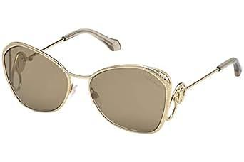 ROBERTO CAVALLI Unisex Adults' RC1062 32G 58 Optical Frames, Gold (ORO\\Marrone SPECCHIATO), Size 120 mm