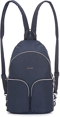 Pacsafe Women's Stylesafe Anti-Theft Convertible Sling to Backpack Navy One Size