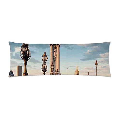 C COABALLA Paris Decor Comfortable Rectangular Pillowcase,Pont Alexandre