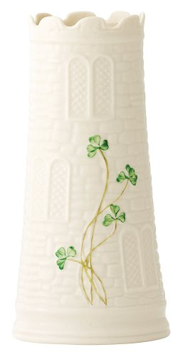 "Belleek 2223 Castle Vase - Package Height of the Product: 9.5"" Package Length of the Product: 4.75"" Pacakge Width of the Product: 4.75"" - vases, kitchen-dining-room-decor, kitchen-dining-room - 31OSy hqlfL -"