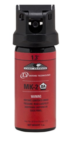Defense Technology First Defense OC Stream MK-2 1.3% Solution Red Band Pepper Spray (1.0-Ounce) ()