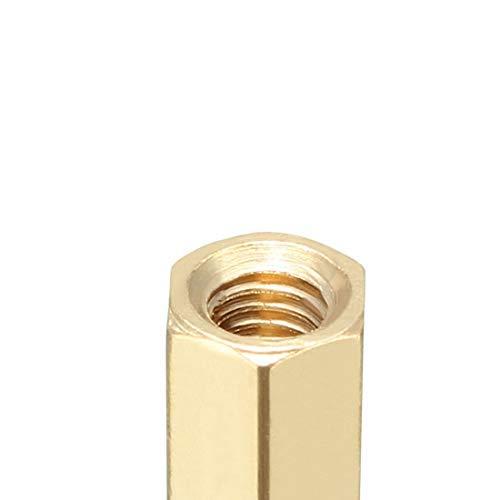 50pcs M4 12 6mm Male Female Thread Brass Hexagonal Spacer Screws Pillar PCB