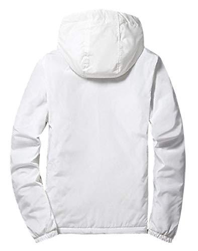 Coat Thicken Jacket XINHEO College White Zipper Outwear Solid Men Style Windbreaker n6nqTzxXwt