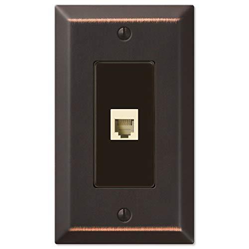 Century Aged Bronze 1 Phone Jack with Hardware