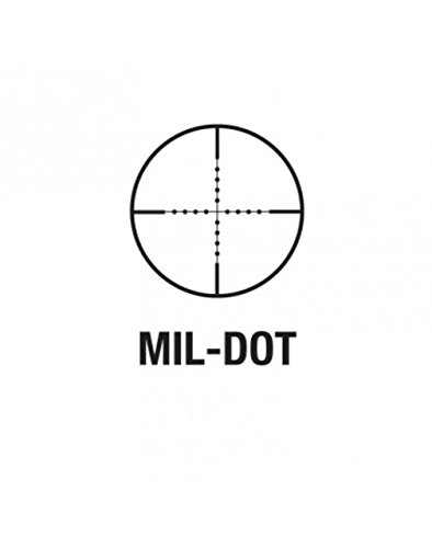 Aim Sports 2-7 x 42 30mm Scout Scope/Mil-Dot/Rings, Medium, Black/Green Lens by Aim Optics