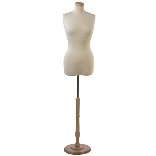 NAHANCO F4WB Creme Female 3/4 Torso, Two 7/8'' Flanges - One Centered and One Off Center by NAHANCO
