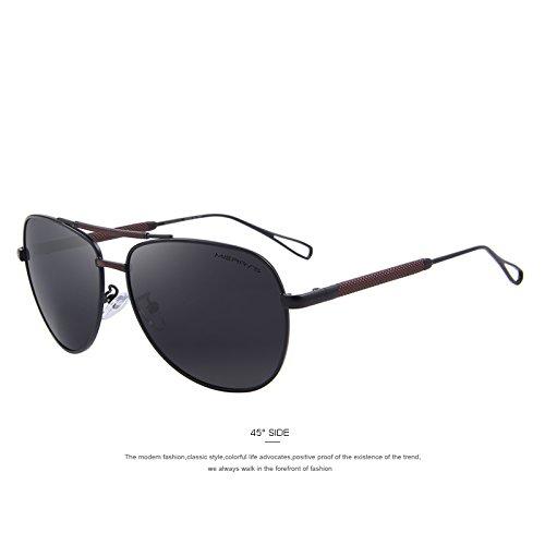 de de C01 HD aluminio C02 TIANLIANG04 de de sol gafas aviación gafas Black Gris lujo de sol Guía clásicas Hombre polarizadas Hg5qX