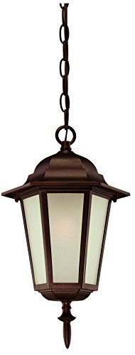 Acclaim 6116ABZ/FR Camelot Collection 1-Light Outdoor Light Fixture Hanging Lantern, Architectural Bronze by Acclaim