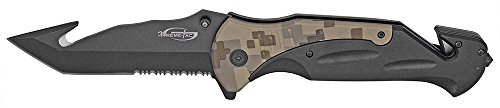 6 Rescue Folding Knife w Guthook – Black Digital Camo