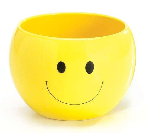 - Adorable Smiley Face/Happy Face Planter/Candy Dish