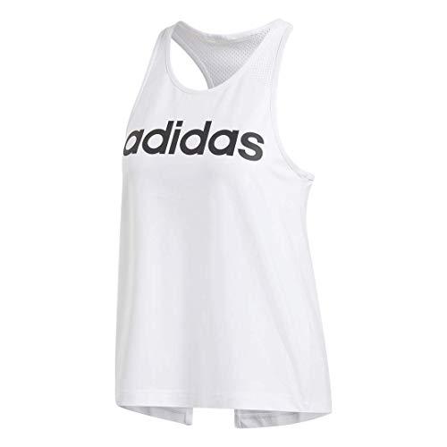 adidas Women's Design 2 Move Logo Training Tank Top, White, X-Small