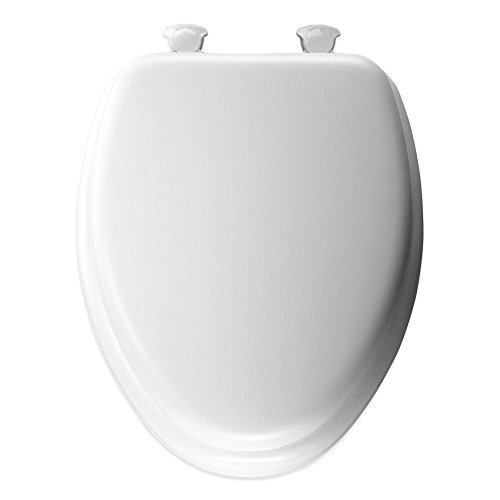 Mayfair Cushioned Vinyl Soft Elongated Toilet Seat with Easy-Clean &Change Hinge ()
