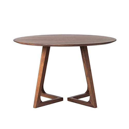 Small Elegant Meeting Table in Solid Walnut Wood