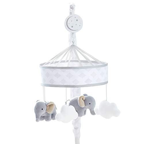 Just Born Dream Musical Mobile, Grey Elephant, Clouds, One - Crib Mobile Dreams
