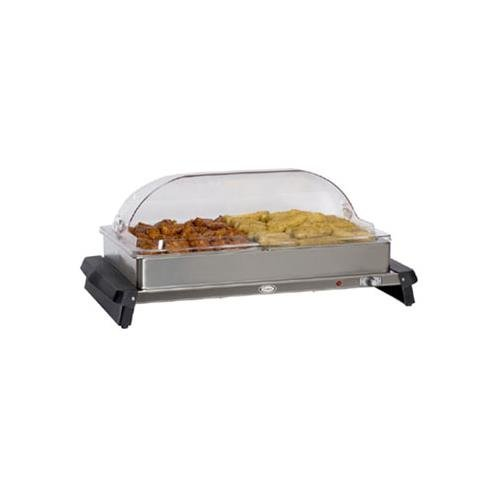 Cadco WTBS-2RT Buffet Server w/ Rolltop Lids 2 (Roll Top Lid)
