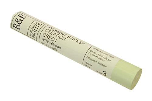 R&F Handmade Paints Oil Pigment Stick, 38ml, Celadon Green