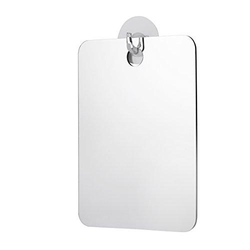 Fogless Mirror Fog-free Shower Mirror Anti-Fog Bathroom Mirror for Travel Makeup Shaving (Silver)