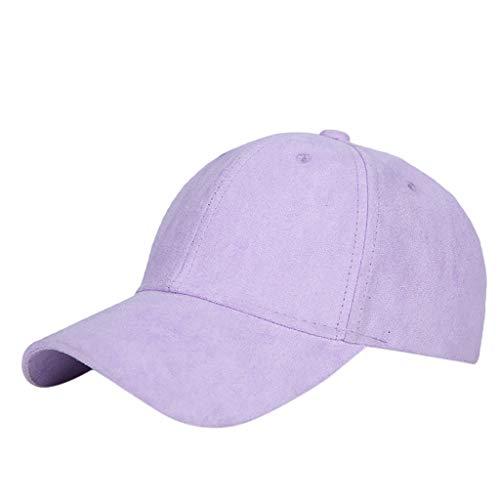 YEZIJIN Baseball Cap with Classic Adjustable Fastner Boys Mens & Ladies Winter Suede Hat Purple (Best Rated Jet Ski)