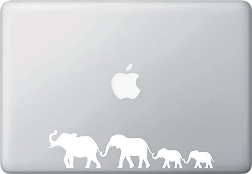 Elephant Family Walking - D1 - Macbook or Laptop Decal - Cop
