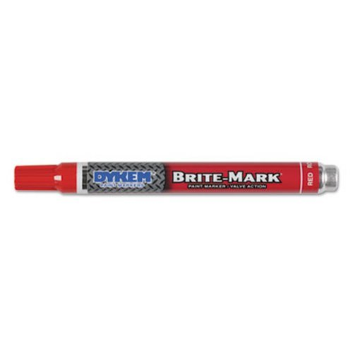 BRITE-MARK Layout Marking Pen, Medium Point, Red, Sold as 12 Each