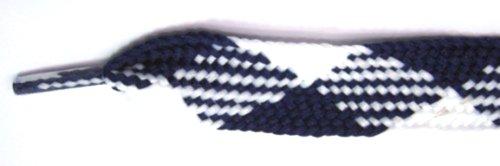 Footgalaxy Fett Blonder (shoelaces) For Støvler Og Sko Royal-hvitt-argyle