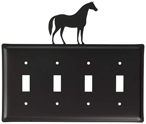 - 8.25 Inch Horse Quadruple Switch Cover