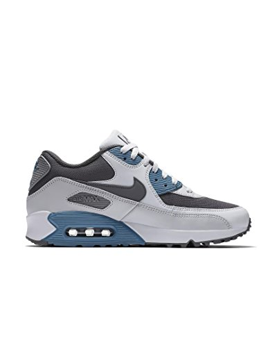 Platinum Pure Max Essential Grey Leather 90 Nike Air Cool Trainers Mens Mesh nF4qg7xz