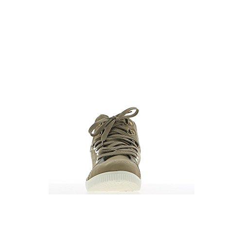 Vêtements et accessoires Chaussures pour femme Baskets femme montantes taupes à coutures
