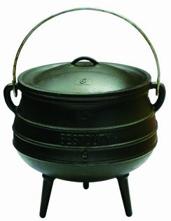 Best Duty Cast Iron Potjie Pot Size 6 - Include complementary Lid Lifter Knob ($9,95 value) by Best Duty