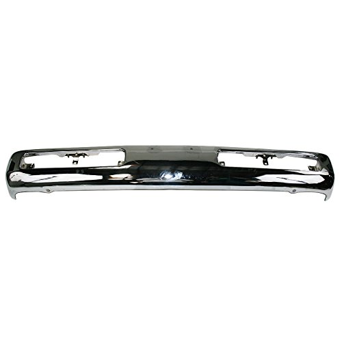 Nissan Pickup Replacement Bumper - Titanium Plus 1995-1997 Nissan Pickup Front Bumper Face Bar CHROME