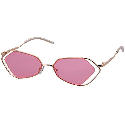 Bonbons Pink Uv400 Couleurs Trendy Métallique Ossature De À Chic Fashion Teintées Lunettes Protection Ogobvck 4qPwSP