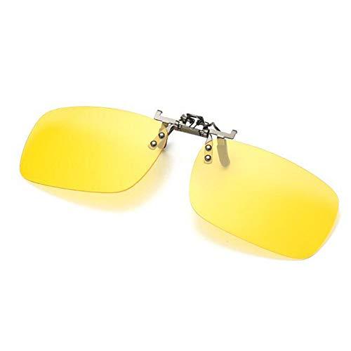 Élégant Clip Polarisation Anti de Rectangle UV400 éblouissement Flip soleil on Mixte Jaune Des Deylaying up lunettes Protection lunettes Lentille 8wfgdxdq