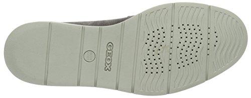 Geox U Uvet B, Scarpe Stringate Uomo Grigio (Anthracitec9004)