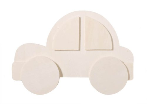 Darice 9189-12 Chunky Layered Wood Cutout, Car Shape, 10mm (Layered Shape Painted)